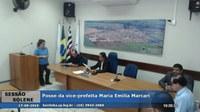 Câmara cumpre determinação da Justiça e empossa a vice-prefeita Maria Emília Marcari como prefeita