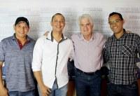 Ronaldo Tróia, Evandro Kotó e Fabiano do Depto Pessoal reúnem-se com Deputado Estadual Roberto Engler.