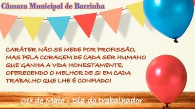 Parabéns ao trabalhador Barrinhense!