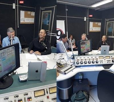 """Presidente da Câmara, Ronaldo Tróia, participa do Programa """"Família Gasparini"""" na rádio 79 de Ribeirão Preto."""